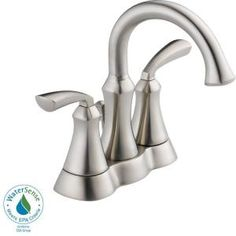 Delta Mandara 4 in. 2-Handle High Arc Bathroom Faucet in Stainless-25962LF-SS at The Home Depot. 2 handles? For kids' bath-to match ours??