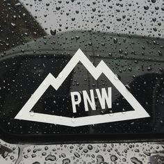 The mountains in the Northwest are unbeatable. From Mt Rainier to Mt Hood and every other in between. Our PNW Mountain sticker is available on our website along with all our Pacific Northwest goods at www.stickersnorthwest.com
