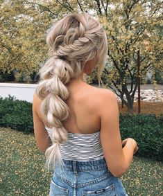 Weave Hairstyles Attractive Prom Hairstyles and Wedding Hair Designs 20 Bridesmaid Hairstyles and Haircuts for Ball.Weave Hairstyles Attractive Prom Hairstyles and Wedding Hair Designs 20 Bridesmaid Hairstyles and Haircuts for Ball Braided Ponytail Hairstyles, Fancy Hairstyles, Winter Hairstyles, Wedding Hairstyles, Bridesmaid Hairstyles, Hair Ponytail, Hairstyles 2018, Prom Hairstyles With Braids, Braids For Wedding Hair