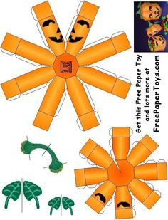 Our free paper model pumpkin box that we designed for Halloween. Fun for Halloween parties and school projects! Dulceros Halloween, Adornos Halloween, Manualidades Halloween, Halloween Miniatures, Holidays Halloween, Halloween Pumpkins, Halloween Decorations, Dollhouse Miniatures, Pumpkin Crafts