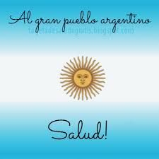 EL ATRILERO: AL GRAN PUEBLO ARGENTINO SALUD Soccer Cup, Thats Not My, Spanish, Cards, Bs As, Gaucho, Instagram, Block Prints, Independence Day Quotes