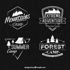 Mountain Camp Bannières Collection Vecteur gratuit