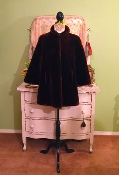 Genuine Fur Swing Coat Sheared Fur Coat Luxury Fur Coat