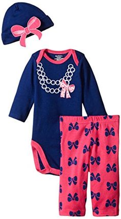 Gerber Baby-Girls Newborn 3 Piece Bodysuit Cap and Legging Set, Bows/Pearls, New Born Gerber http://www.amazon.com/dp/B00W5LKPQQ/ref=cm_sw_r_pi_dp_SO1Bwb06KKAGK
