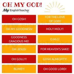 "Other Ways to Say ""Oh My God""! - MyEnglishTeacher.eu"
