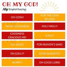 """Other Ways to Say """"Oh My God""""! - MyEnglishTeacher.eu"""