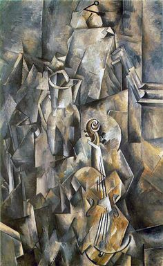 Violin with Pitcher, 1909-10, 117 x 73 cm, Georges Braque, Kunstmuseum Basel