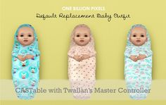 One Billion Pixels: Christmas Gift Part 9 (Default Replacement Baby Outfit - UPDATED with 2 channels) -- well if they must be pod babies, at least we can choose the pattern!