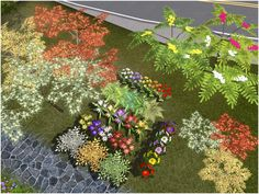 A set of various new plants, bushes, and small trees to decorate your game with. Everything is extensively recolorable on multiple channels.  Found in TSR Category 'Sims 3 Garden Sets'