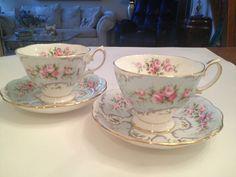 "Royal Albert Cups & Saucers ""Claudette ""Marie"""