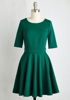 Mystic Fashion Dote Worry About It Dress in Emerald - dress for pear bodyshape