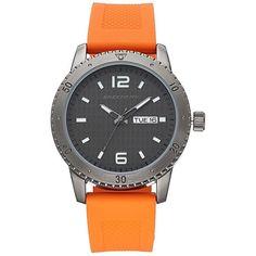 Skechers Men's Watch featuring polyvore, men's fashion, men's jewelry, men's watches, orange, men's blue dial watches, mens watches jewelry and mens orange watches
