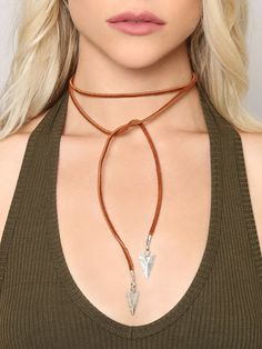 Straight As An Arrow Wrap Necklace - Brown - Gypsy Warrior
