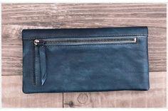 Vintage Style Genuine Natural Leather Wallet Long Wallet Men's Wallet WF 59 - ArtofLeather