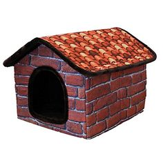 JIAJIA Pet Dog Cat Soft Warm Retro Fleece Brick Home Bed L ** Want additional info? Click on the image.
