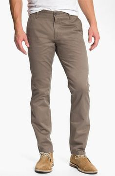 Dockers® 'Alpha Khaki' Slim Straight Leg Chinos available at #Nordstrom