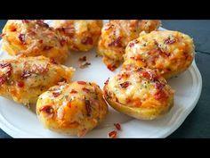 Patatas rellenas potato al horno asadas fritas recetas diet diet plan diet recipes recipes Pizza Snacks, Bacon, Stay At Home Chef, Diet Recipes, Cooking Recipes, Recipies, Canapes, Finger Foods, Baked Potato