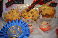 Strawberry Muffins with Strawberry Butter ~ Won the 1st Place Blue Ribbon and a $75 King Arthur Gift Card at a King Arthur Flour Muffin Baking Contest at our 2012 Local Fair. ~ Dana's Daydreaming Recipes