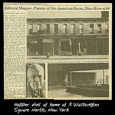 Edward Hopper obituary