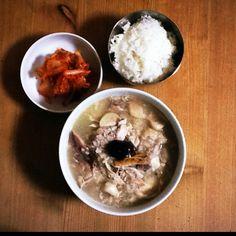 Home-made sam gye tang. Love Korean food!