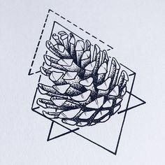 #pineconetattoo #tattoodesign #lineart #geometricaltattoo #pineconetattoodesign #wannado #pinecone #sketching #sketchbook #instaart
