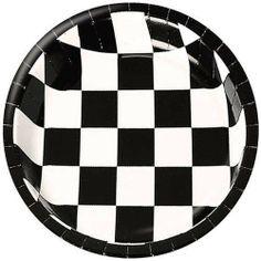 Black and White Checker 7-inch Paper Plates 25 per Pack by Creative Converting, http://www.amazon.com/dp/B002W4SWI4/ref=cm_sw_r_pi_dp_AZzFqb1TEGQ83