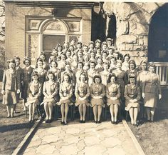 Many student nurses at Piedmont Hospital in Atlanta joined the Nurse Cadet Program during World War II ~