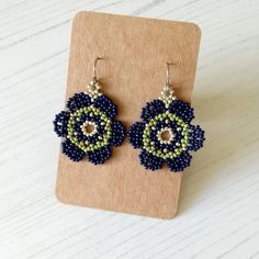 Craft House, House Gifts, Green Earrings, Message Card, Mexican Style, Large Flowers, Navy And Green, Main Colors, Home Crafts