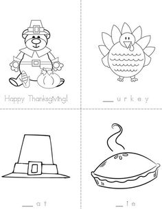 Happy Thanksgiving Book from TwistyNoodle.com