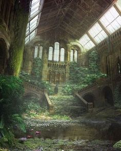 Concept work of an abandoned Church reclaimed by nature. - #AllAbandoned #abandoned #abandonedporn #abandonedearth #abandonedhouse #abandonedworld #abandonedplaces #abandoned_junkies #abandonedbuilding #all_is_abandoned
