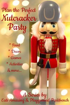 Whether the theme of your child's holiday party or a birthday party for your tiny dancer, Eats Amazing and I have partnered to bring you food, decor, games, activities, favor ideas and more to plan your perfect Nutcracker-themed holiday party!