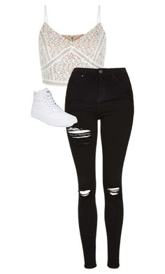 """""""././.....///...."""" by anna-mae-equils on Polyvore featuring Topshop and Vans"""