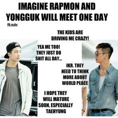 they have meet tho. and Yongguk was his normal ultra-shy/quiet self (at least when the camera was still around) so i don't know that they really *know* each other. but a collab would still be epic.