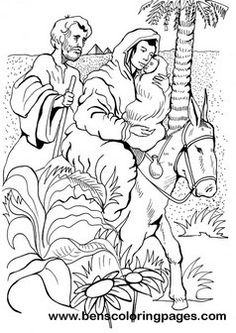 Holy family picture coloring page
