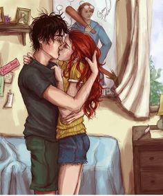 Fan Art of Harry and Ginny for fans of Harry Potter. It's not my fan art work.All rights belong to the autor Harry Potter Fan Art, Gina Harry Potter, Hery Potter, Harry Potter Couples, Harry Potter Ginny Weasley, Gina Weasley, Images Harry Potter, Harry Potter Ships, James Potter