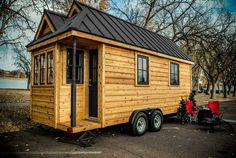 Showroom model of the Tumbleweed Tiny House Cypress available for purchase.
