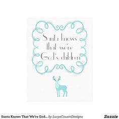 Santa Knows That We're God's Children - Christmas Canvas
