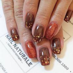 "60 Likes, 2 Comments - Cindi Tucker (@nailnaturale) on Instagram: ""Fall-y #beautifulnaturalnails #fallnails #noacrylic #nailartideas #nailfeatures #nailsofinstagram…"""