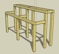 Building a Bonsai bench Japanese Plants, Japanese Pagoda, Patio Redo Ideas, Greenhouse Benches, Bonsai Tree Types, Succulent Landscaping, Diy Garden Projects, Garden Ideas, Bonsai Garden