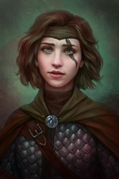 Wayfarer by Cher-Ro on DeviantArt Dungeons And Dragons Characters, Dnd Characters, Fantasy Characters, Female Characters, Fantasy Portraits, Character Portraits, Fantasy Artwork, Fantasy Women, Fantasy Rpg