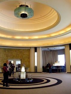 The Carlu Deco Interiors, Art Deco Posters, Art Deco Era, Geometric Shapes, Art Work, College, Ceiling Lights, Adventure, Architecture