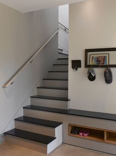 entryway bench with shoe storage Staircase Contemporary with built in staircase built in storage hall
