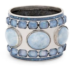 Chico's Wren Cuff ($69) ❤ liked on Polyvore featuring jewelry, bracelets, accessories, nakit, blue, blue bangles, seashell jewelry, fake jewelry, shell jewelry and chico's