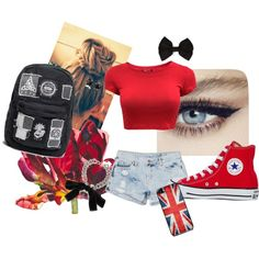 """""""Red"""" by jacolacook on Polyvore"""