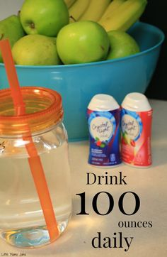 Challenge: Drink 100 ounces of water daily. I share how I drink 100 ounces of water and how you can, too! #PlatinumPoints #shop