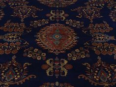 New Zealand wool is amazing. Check out this handmade rug. #DealoftheDay!  8' X 10' NAVY BLUE SAROUK FEREGHAN NEW ZEALAND WOOL HANDMADE ORIENTAL RUG