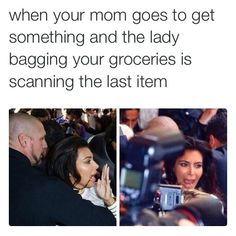 <b>*Waits at the cash register while mom grabs one more thing* *Dies of panic*</b>