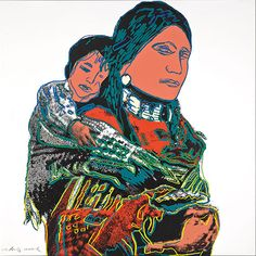 ANDY WARHOL Mother and Child, 1986 (#383, Cowboys & Indians) unique trial-proof hand-signed screenprint