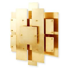 Brass Puzzle Sconce - Modern layered planes of metal, with a hint of the brutalist movement