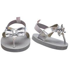 Outlet Silver Bow Sandals | Build-A-Bear Workshop